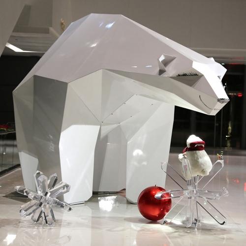 透明亚克力组合式雪花商场道具