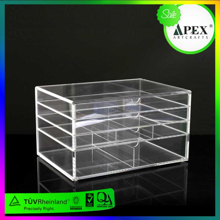 APEX亚克力透明防尘收纳盒化妆品收纳