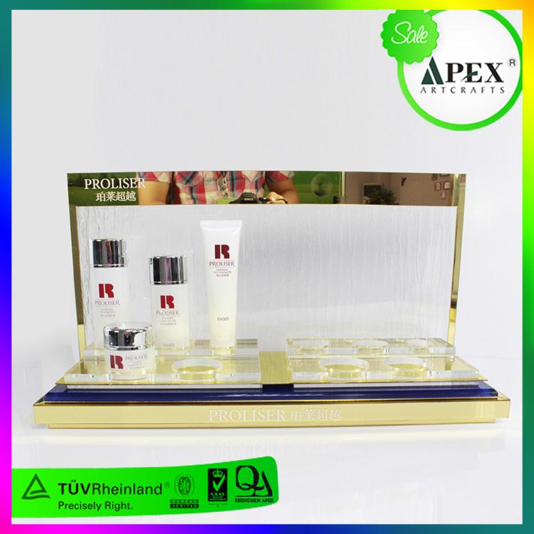 APEX定制亚克力金属化妆护肤品展示架
