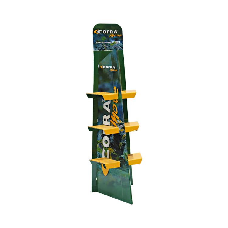 APEX 定制食品纸货架展示盒立式斜面纸展示架纸地堆零食服装货架