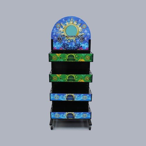 广州APEX商场玩具陈列架金属货架促销架