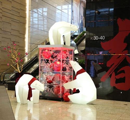 广州时代广场圣诞节亚克力展台道具