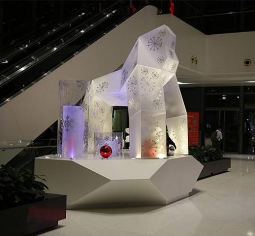 东莞大型商场亚克力猩猩布景与道具