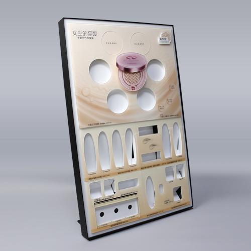 五金框亚克力背柜彩妆化妆品展示架