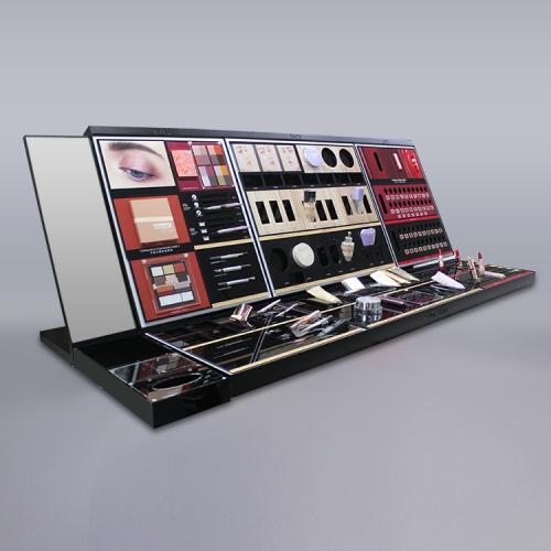 广州APEX商场高档柜台彩妆展示陈列架陈列道具