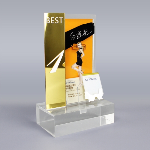 APEX金色镜面亚克力单品护肤展示架