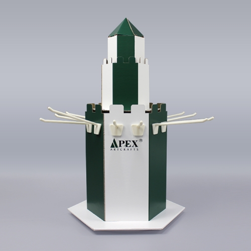 APEX厂家定制纸货架纸展示架纸展示盒瓦楞pdq格层陈列架促销纸堆头