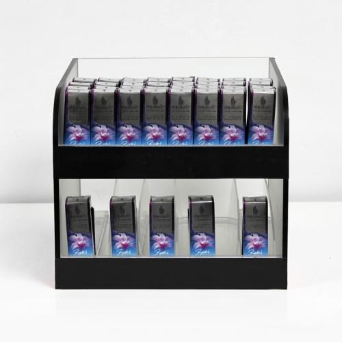 APEX厂家定做亚克力展示电子化妆品烟展台展示架超市促销陈列架设计定制