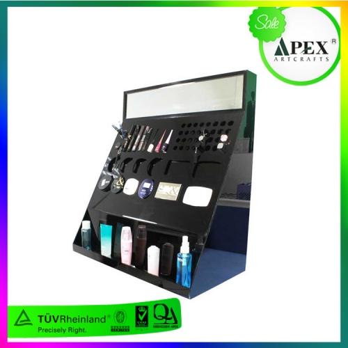 龙岗APEX 亚克力化妆品展示道具制作 化妆品陈列道具展架加工定制