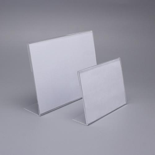 L型亚克力透明台卡