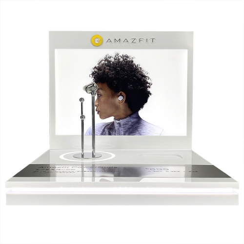 APEX高端定制带光电耳机3C数码产品陈列展架