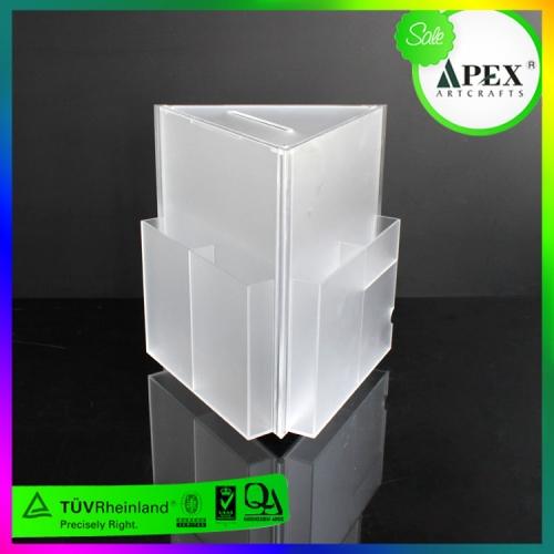 APEX透明磨砂亚克力三面资料展示架定制设计