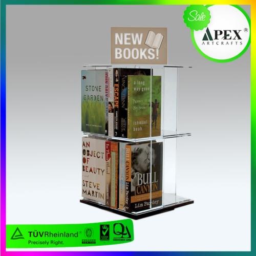APEX亚克力两层双面展示书架定制设计