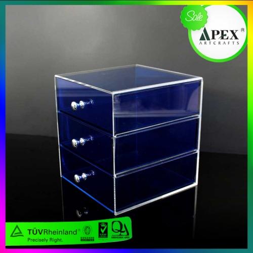 APEX定制设计蓝色亚克力抽屉亚克力收纳盒
