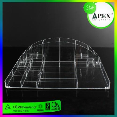 APEX厂家直销亚克力化妆刷展示架桌面眉笔口红有机玻璃收纳盒定制加工