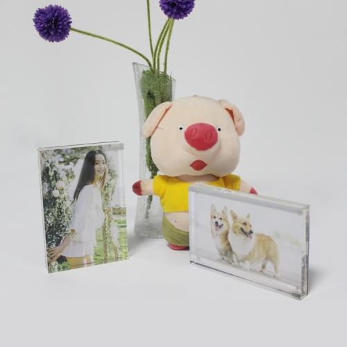 APEX定制亚克力家庭影楼儿童水晶相框4x6