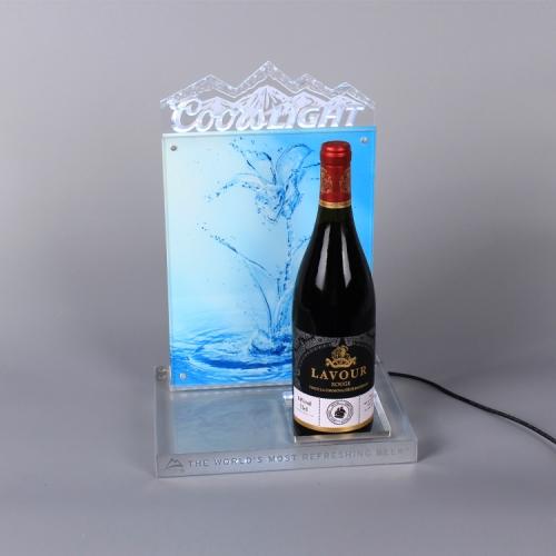APEX亚克力带灯红酒饮料酒水展示陈列架