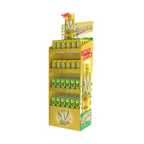 APEX纸货架批发超市促销酒水饮品纸展示架陈列架生产设计纸货架厂家