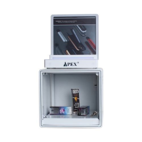 APEX定制亚克力+金属电子烟烟油售卖陈列展示架定制厂家