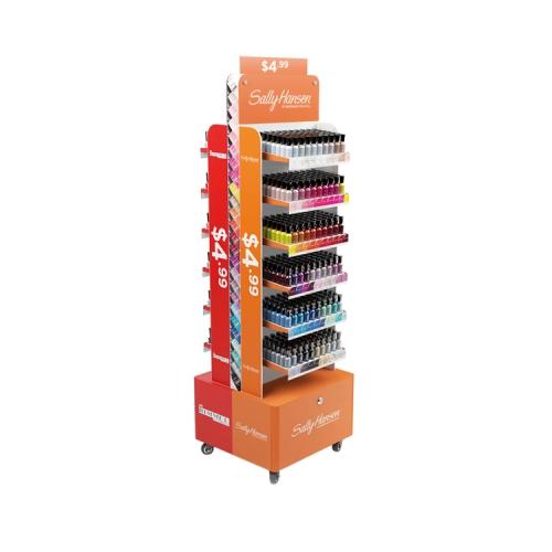 APEX 厂家定制纸货架纸展示架纸展示盒瓦楞化妆品陈列架促销纸堆头