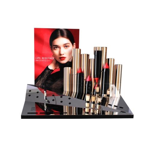 APEX百合隆厂家定制不锈钢亚克力化妆品口红展示架陈列架道具