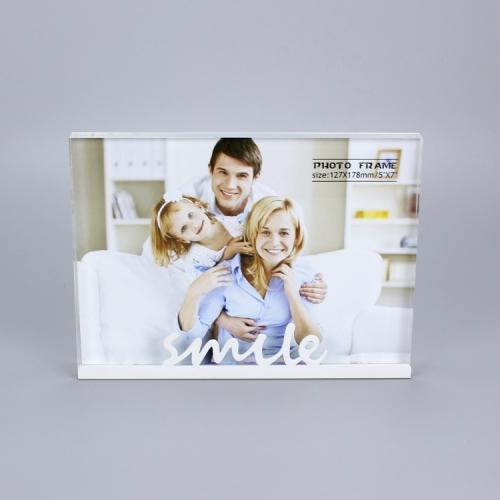 APEX百合隆亚克力相框A6照片摆台相架像框创意双面透明酒店桌面展示牌