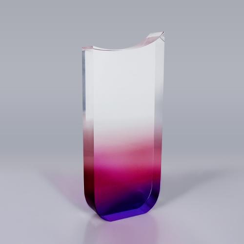APEX亚克力紫色渐变奖杯授权牌