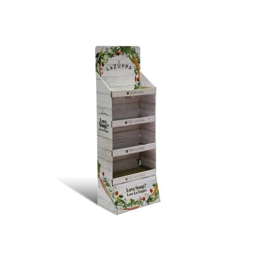APEX 定制纸货架纸展示架纸展示盒瓦楞pdq格层陈列架促销纸堆头