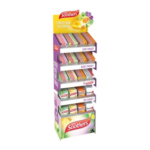 APEX超市纸货架瓦楞纸促销台纸地堆 pvc雪弗板展示架安迪板展示盒